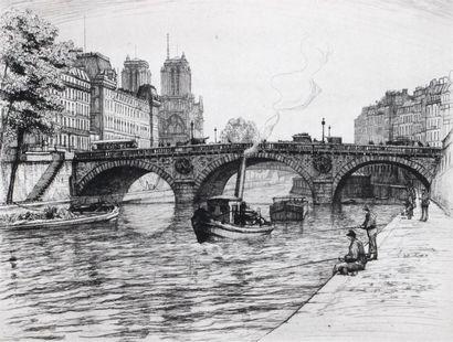 Caroline ARMINGTON (1875 1939) Le Pont Saint...