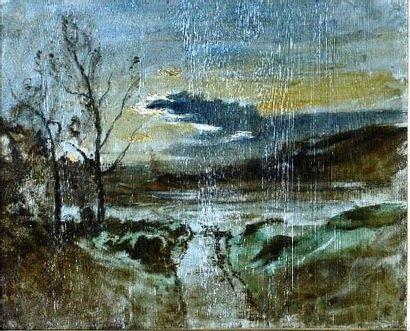 François-Auguste RAVIER (1814-1895) Crépuscule,...