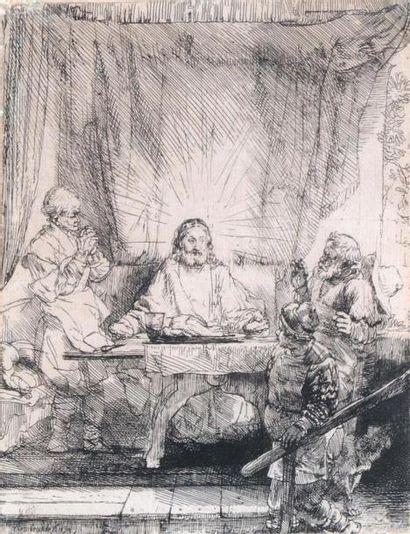 REMBRANDT VAN RIJN (1606 1669) Christ à Emmaüs....
