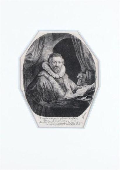 REMBRANDT VAN RIJN (1606- 1669) Jan Uytenbogaert....