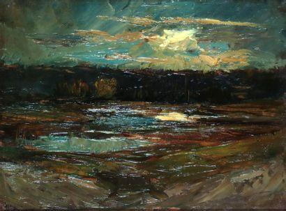 Joseph TREVOUX (1831-1905) Paysage au soleil...