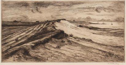 André DAUCHEZ (1870 1948) Paysage à la dune....