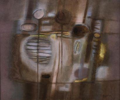 Guy PERRON (1930-2017). Un rêve. Huile et...