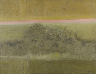 Guy PERRON (1930-2017). Huile et acrylique...