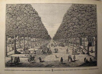 Ensemble de gravures et lithographies en couleurs ou noir et blanc du XVIIIe au...