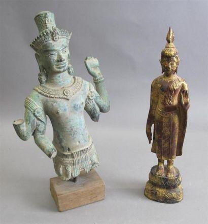 CAMBODGE - XXe siècle Bouddha représenté...