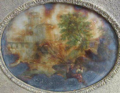Ecole française du XVIIIème siècle Couple...