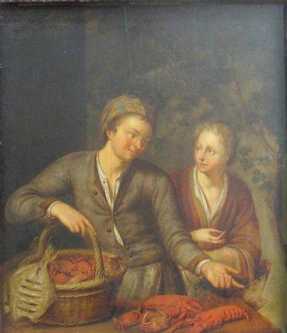 Entourage de Willem VAN MIERIS (1677 - 1747)...