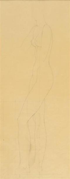Louis BILLOTEY (1883-1940) Étude de nu pour...