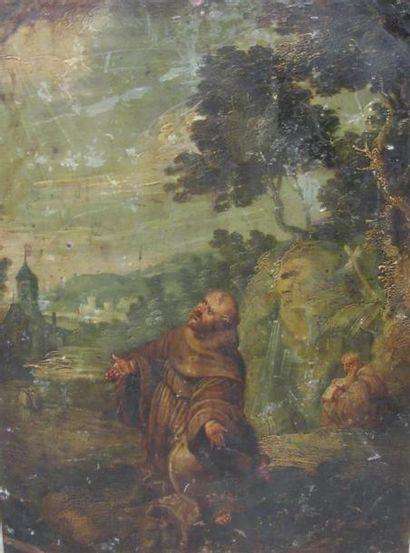 Ecole du nord du XVIIème siècle Hermite en...