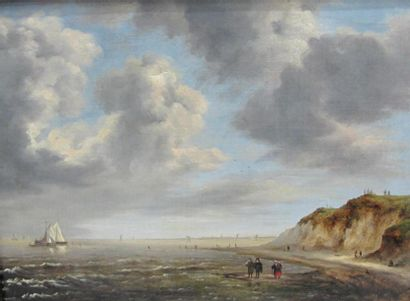 Ecole hollandaise du XIXème siècle Marine...