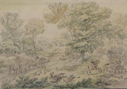 Antoine François VAN DER MEULEN (attribué...