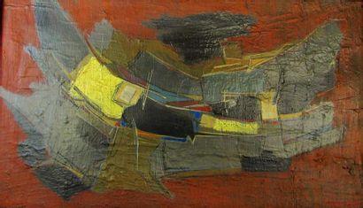 Francis BOTT (1904-1998) Abstraction. Jaune...