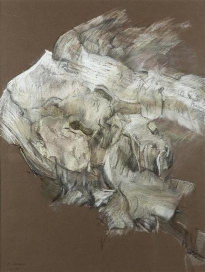 Colette LEVINE (XXe siècle) Etude de mur...