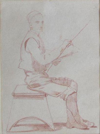 Claudius POPELIN DUCARRE (1825-1892) Autoportrait...