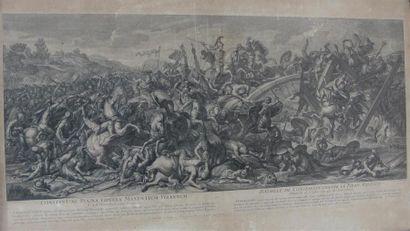 Nicolas-Henri TARDIEU (1674-1749) d'après Charles LE BRUN La Bataille de Constantin...