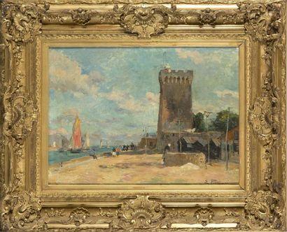 Edmond Marie PETITJEAN (1844-1925) Port des...