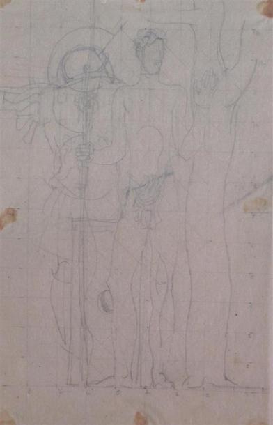 Louis BILLOTEY (1883-1940) Etude de Saint...