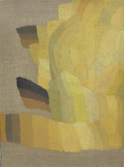 Louis BILLOTEY (1883-1940) Camaïeu de jaune...