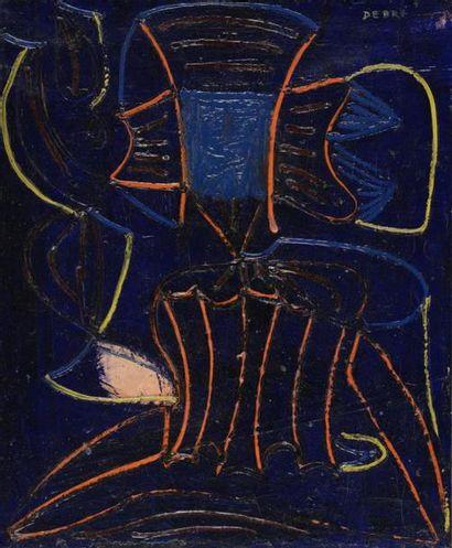 Olivier DEBRÉ (1920-1999) Composition, L'Accordéoniste, 1948 Peinture sur toile...