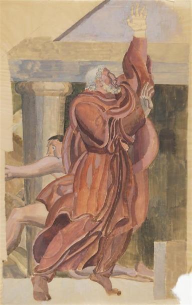 Louis BILLOTEY (1883-1940) Démokos devant...