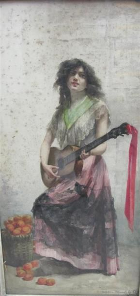 Delphine ARNOULD DE COOL (1830-1921) La gitane...