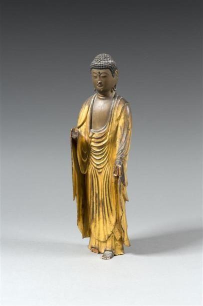 JAPON - Milieu Epoque EDO (1603 - 1868) Statuette...