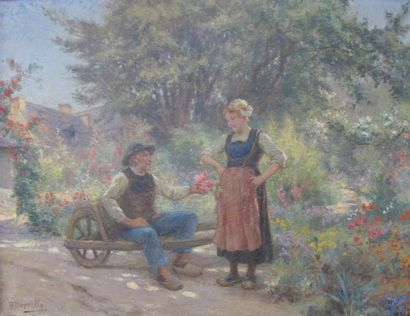 Theophile Louis DEYROLLE (1844-1923) Couple...