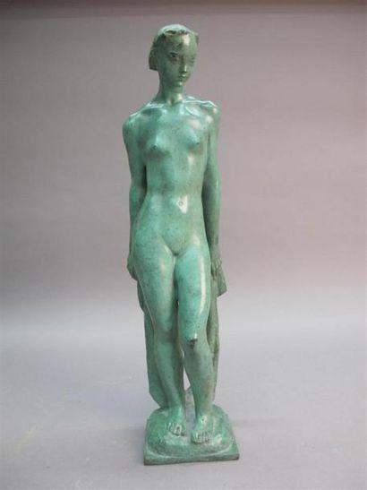 François Émile POPINEAU (1887-?) La baigneuse...