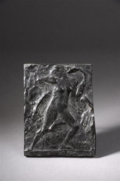 Charles DESPIAU (1874-1946) Plaque en bronze...