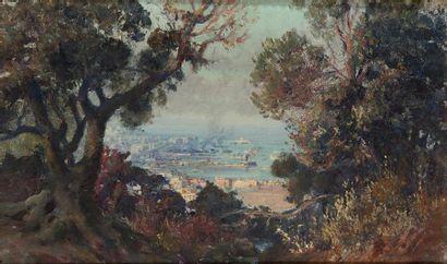 Maxime NOIRE (1861-1927) Le port d'Alger,...