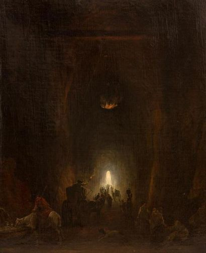 Hubert ROBERT (1733-1808) La grotte du Pausilippe...