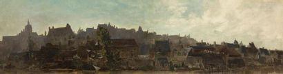 Alexis VOLLON (1865-1945) Vue de la ville...