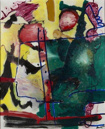 François ARNAL (1924-2012) Abstraction Huile sur toile. Signée en bas à gauche et...