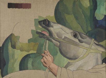 Louis BILLOTEY (1883-1940) Le départ pour...