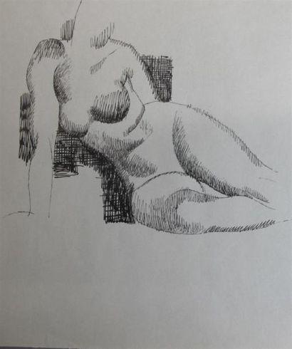 Louis BILLOTEY (1883-1940) Études de nus...