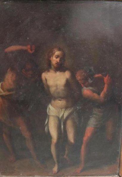 Ecole du nord du XVIIème siècle La Flagélation...