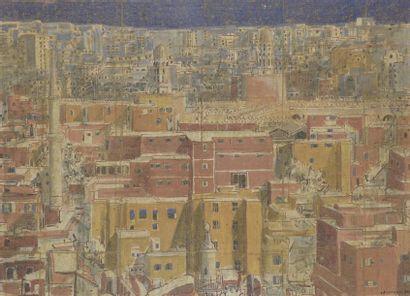 Gérard CHARRUAU (1953) Vue du Caire Acrylique...