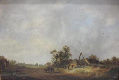 D'après VAN GOYEN du XIXème siècle Paysage...