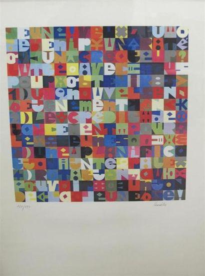 Maurice LEMAITRE (né en 1926) Leçon de peinture...