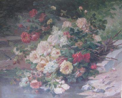 Eugène Henri CAUCHOIS (1850-1911) Bouquet...