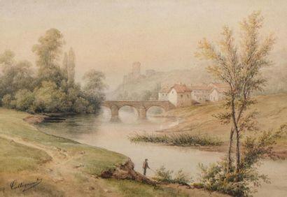 François Jules COLLIGNON (- 1850) Paysages...