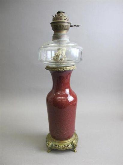 CHINE - XXe siècle Vase en céramique de couleur...