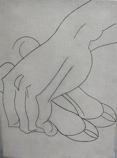 Louis BILLOTEY (1883-1940) Etude de main...