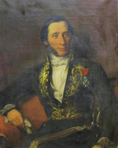 Ecole belge du XIXème siècle Portrait de...