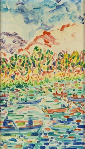 Armand BOUVIER (1913-1996) Régates en Provence...