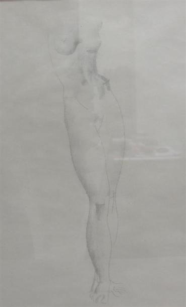 Louis BILLOTEY (1883-1940) Etude de nue pour...