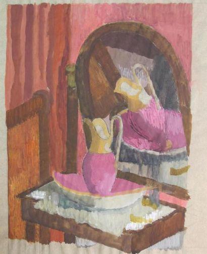 Louis BILLOTEY (1883-1940) Toilette Empire...