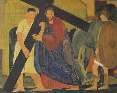 Louis BILLOTEY (1883-1940) Simon aidant le...
