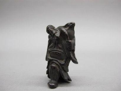 JAPON - XVIIIe siècle Netsuke en jizhimu,...